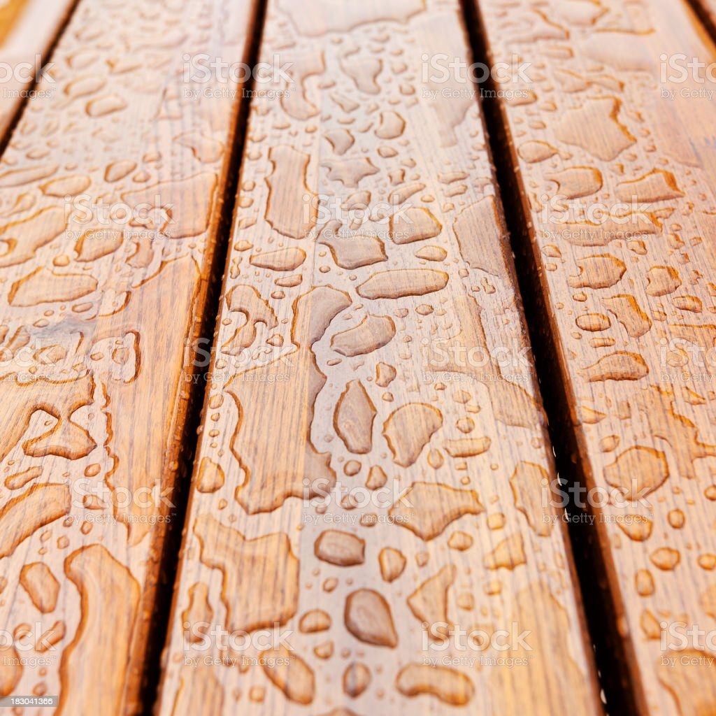 Water On Wood stock photo