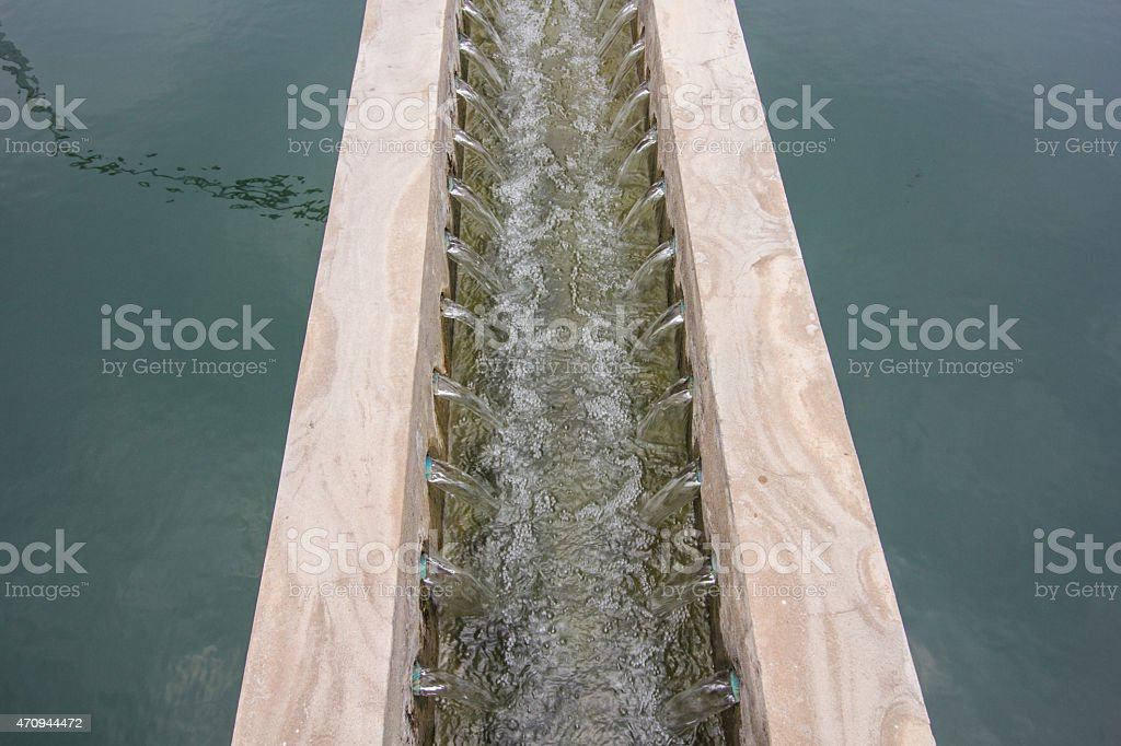 water outlet stock photo