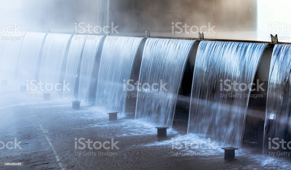 Water Over the Dam Following Heavy Rain - Time Exposure royalty-free stock photo