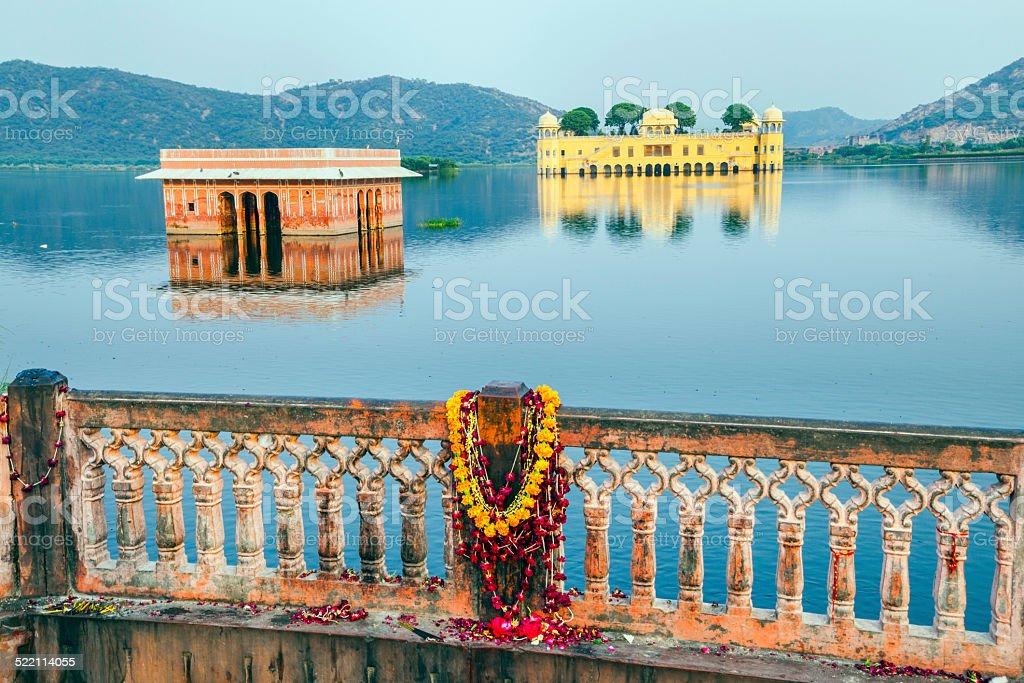 Water Palace (Jal Mahal) in Man Sagar Lake. Jaipur, Rajasthan stock photo
