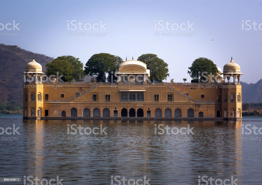 Water Palace was built during the 18th century in the middle of Man Sager Lake. stock photo