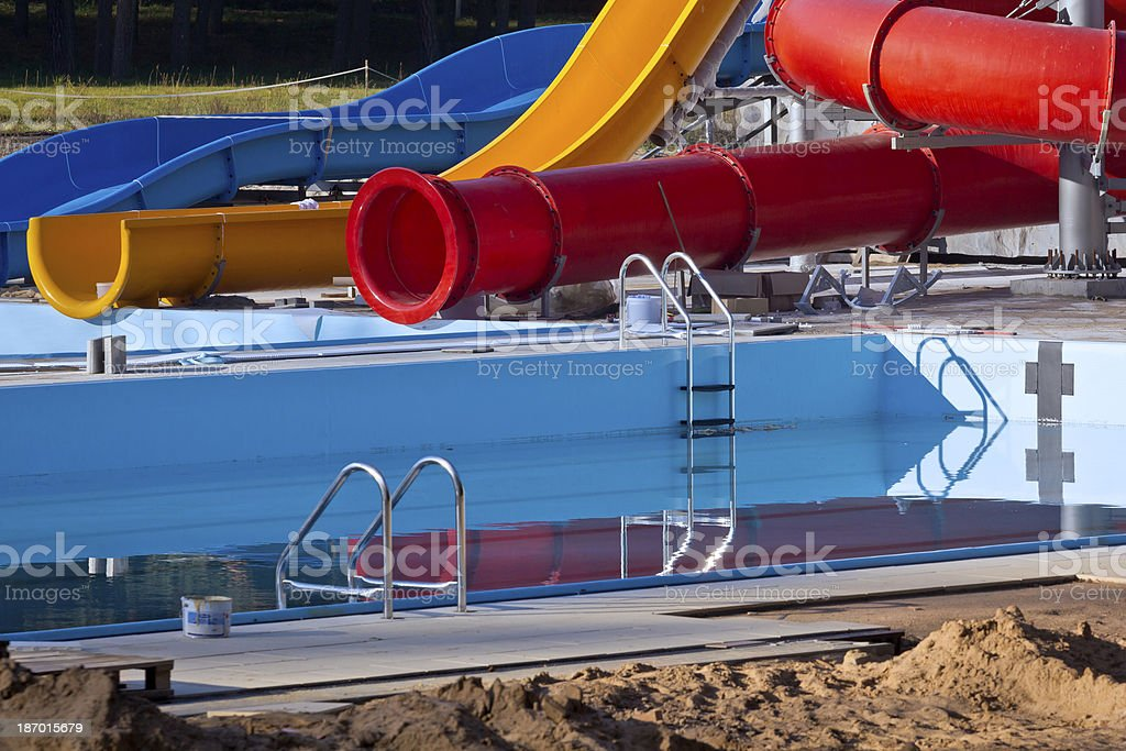 Water park under construction royalty-free stock photo