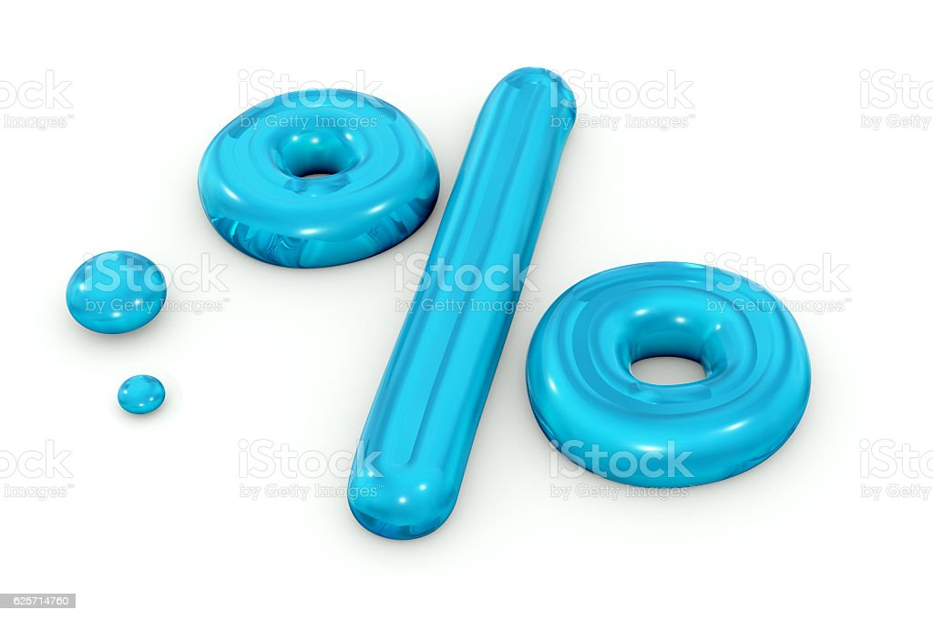 Water Percentage Symbol stock photo