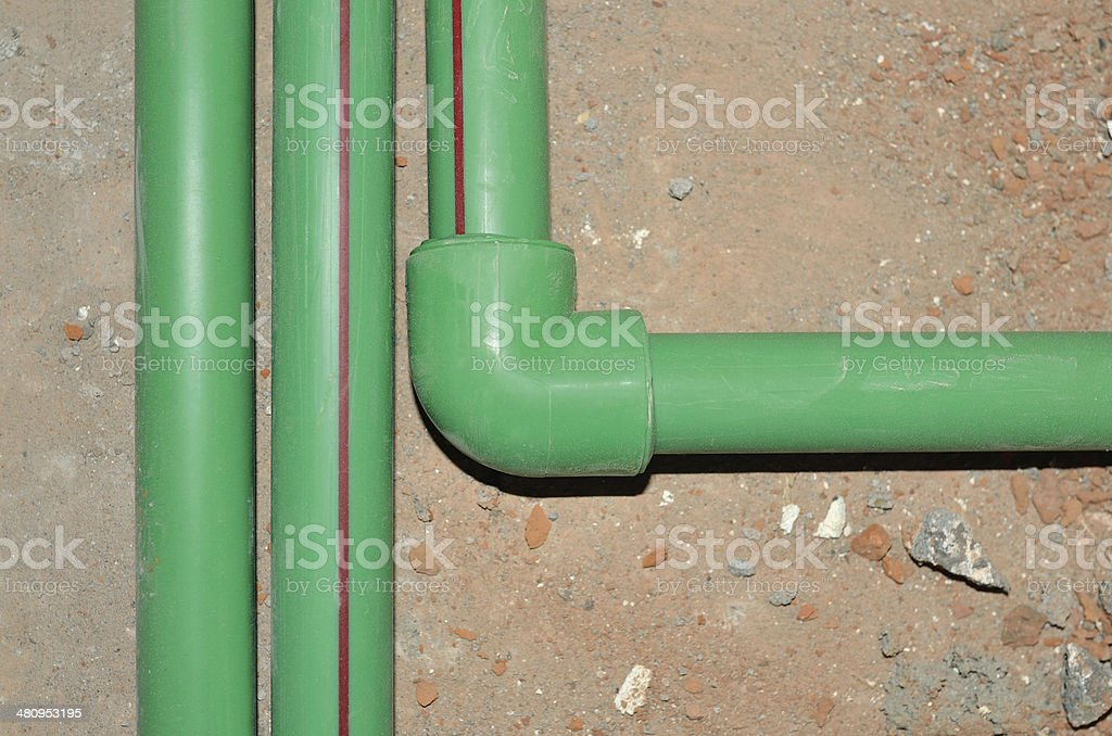 Water Pipe Installation stock photo
