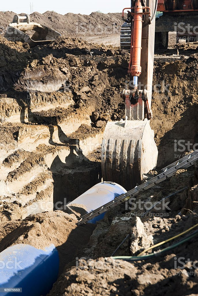 Water Pipeline Construction stock photo