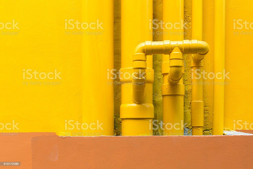 Water pipelines stock photo