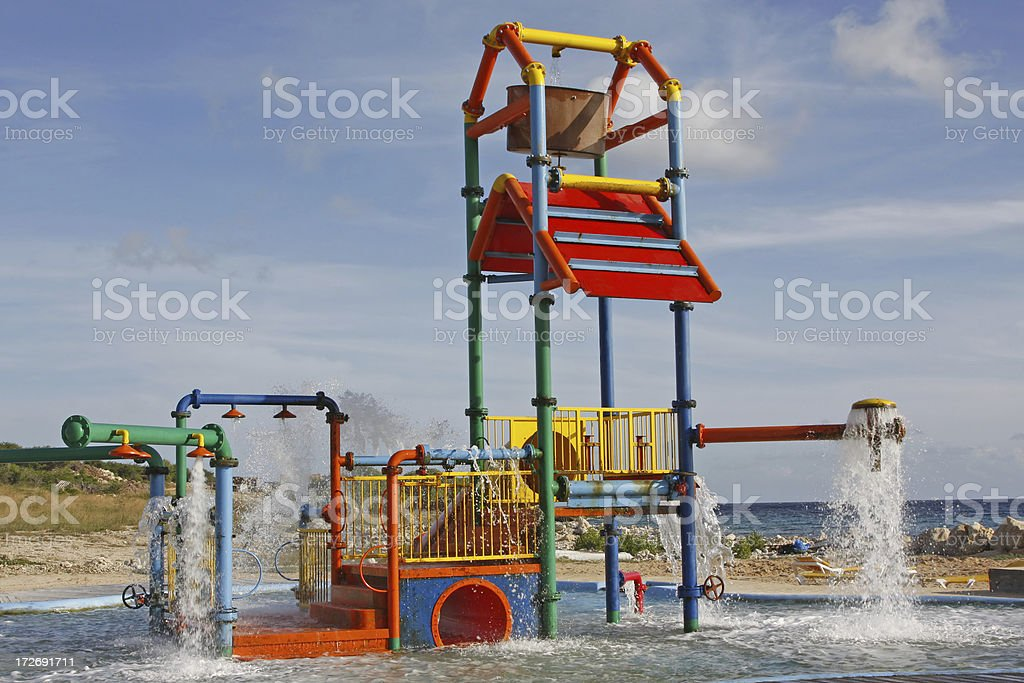 Water playground royalty-free stock photo