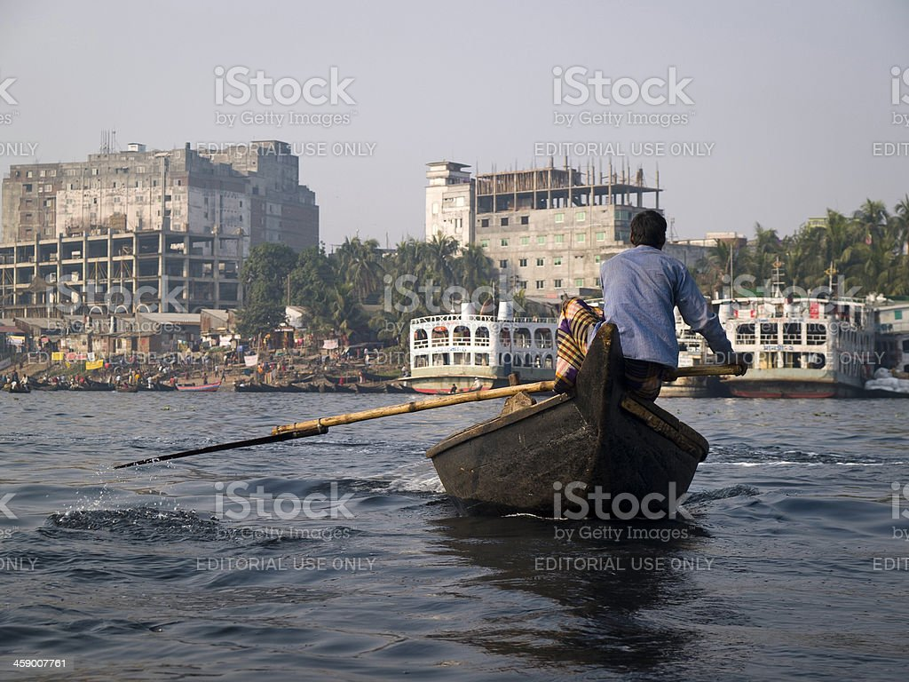 Water pollution in Bangladesh royalty-free stock photo