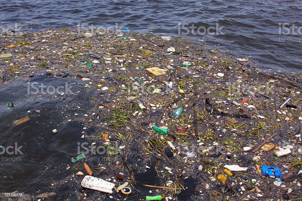 Water pollution. Note the \'black\' water.