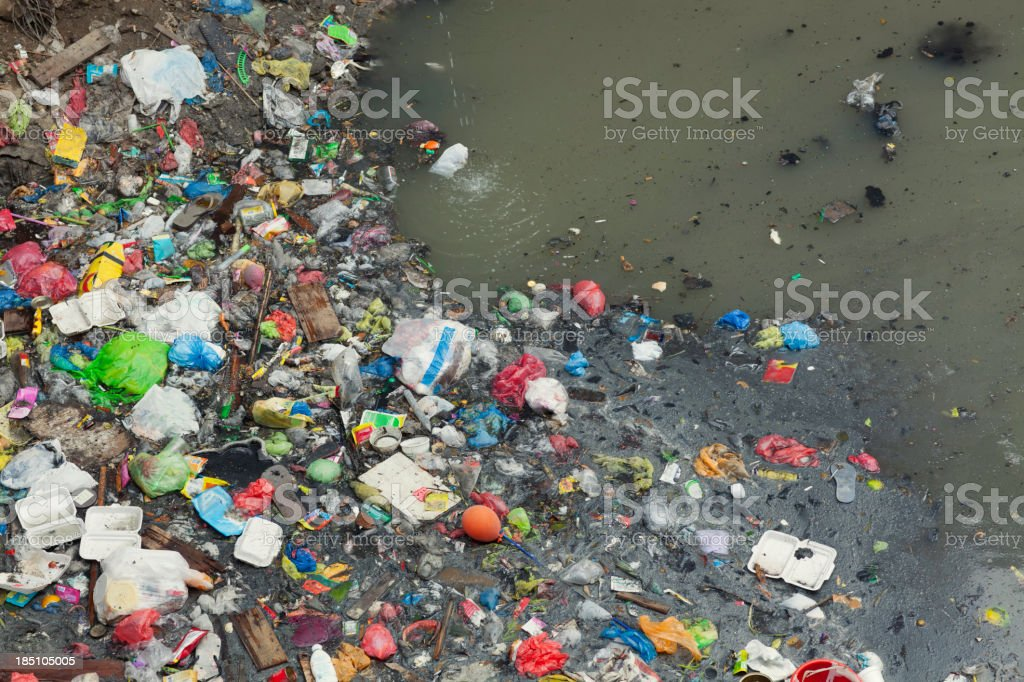 Water pollution stock photo