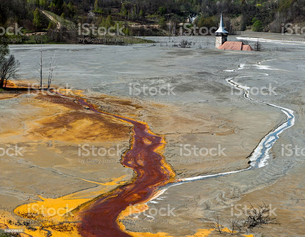 Water pollution. stock photo