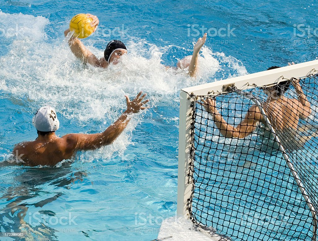 Water Polo Action royalty-free stock photo