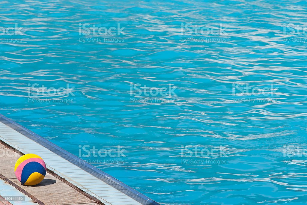 water polo ball and swimming pool royalty-free stock photo