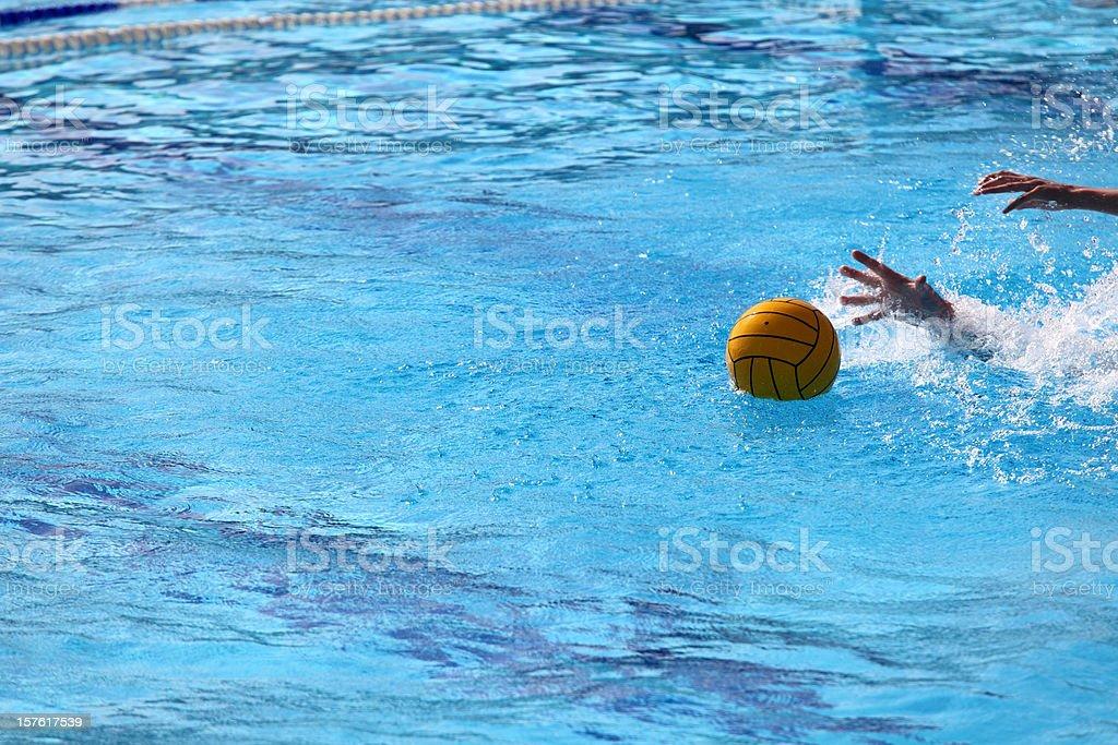 Water polo detail stock photo