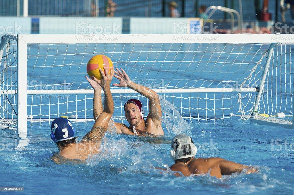 Water Polo Scoring Action stock photo