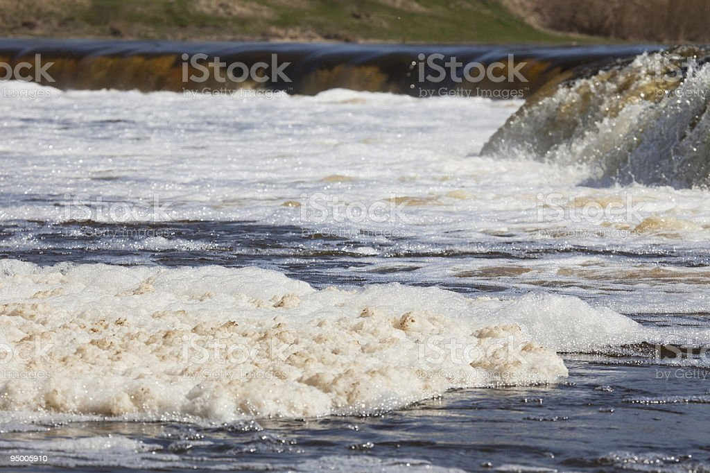 Water polution royalty-free stock photo