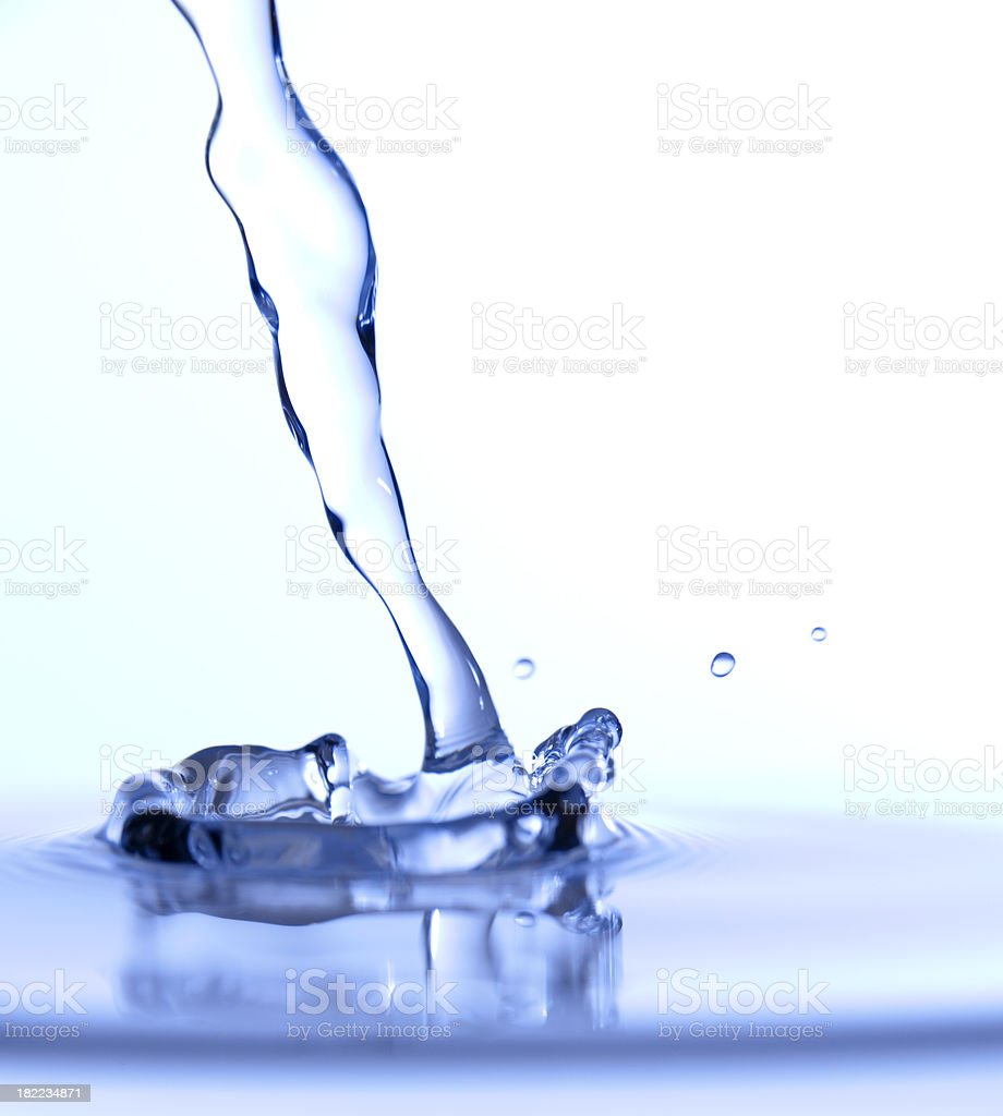 Water Pour Macro royalty-free stock photo