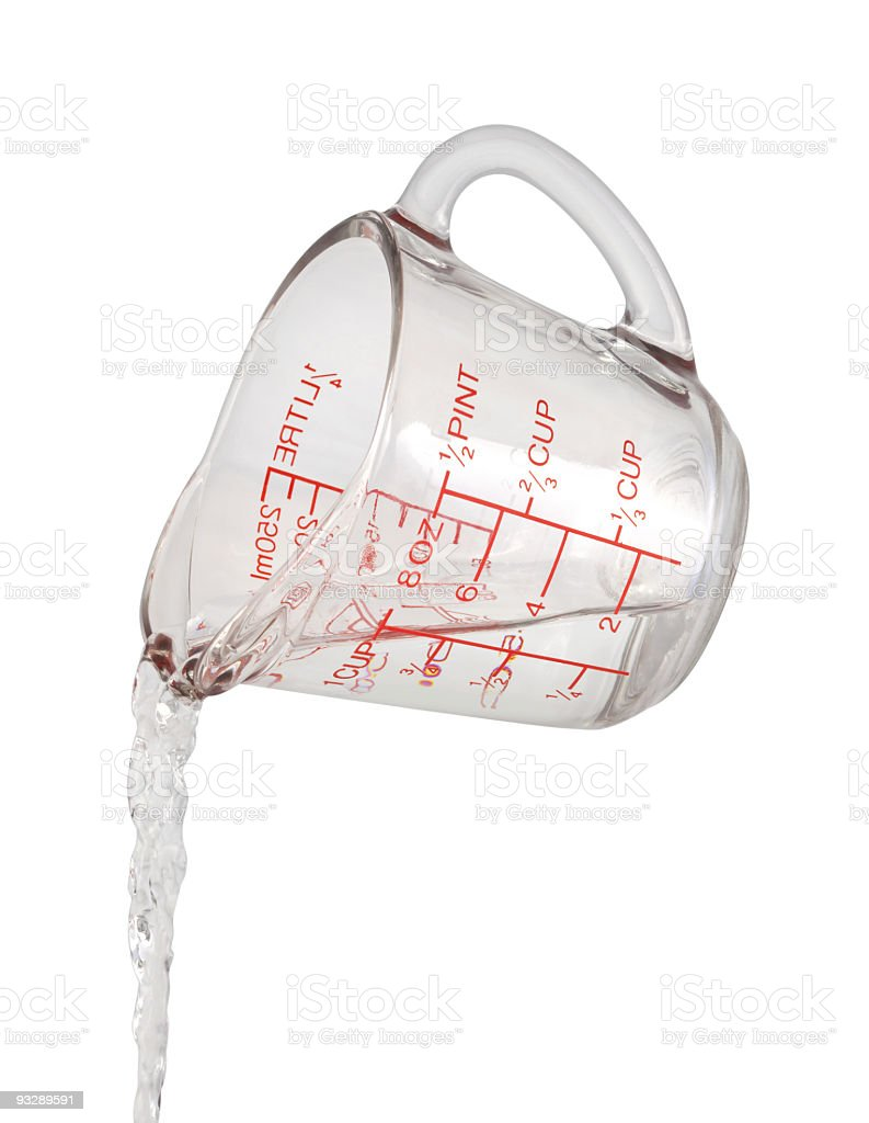 Water Pour Measuring Cup royalty-free stock photo