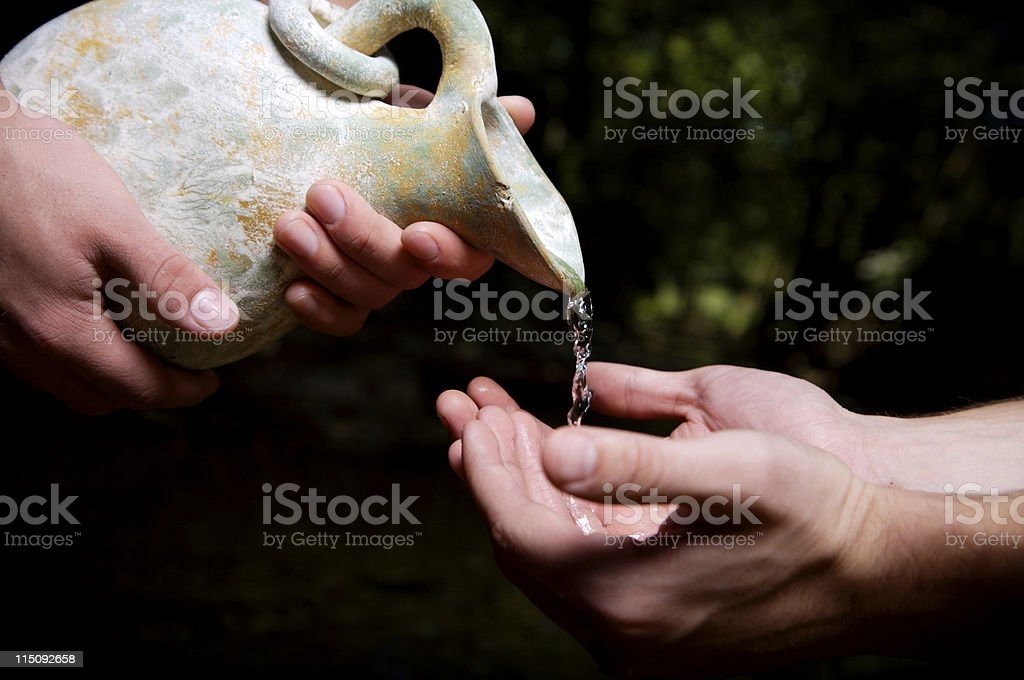 water poured out - humanitarian royalty-free stock photo
