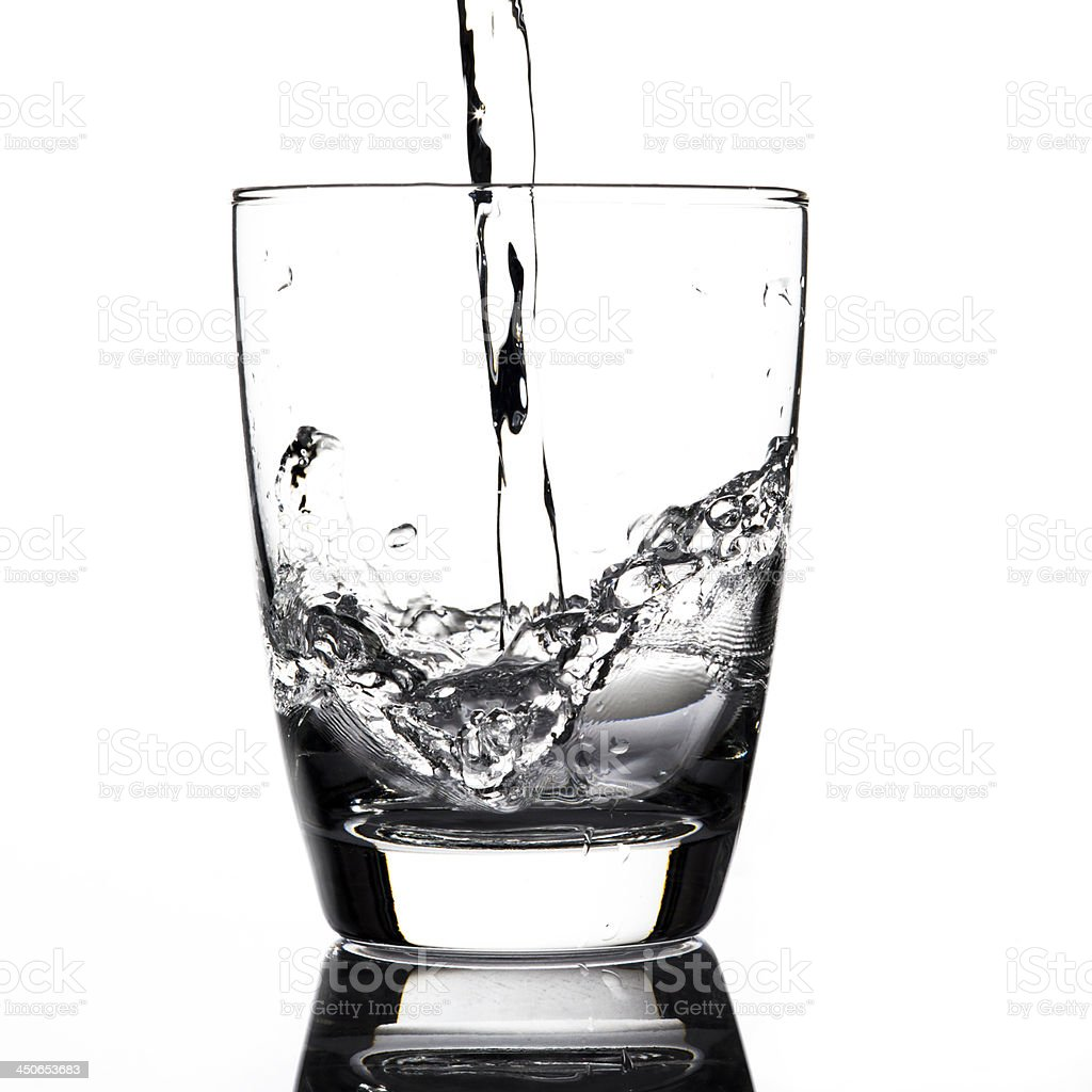 Water pouring to glass royalty-free stock photo