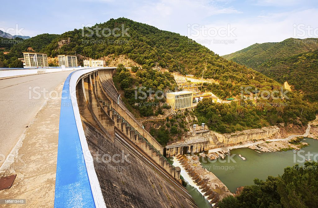 water power plant on Ter river royalty-free stock photo