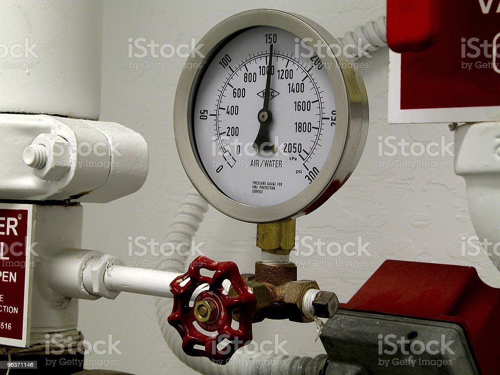 Water Pressure Gauge Close-up stock photo