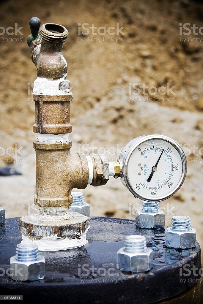 Water Pressure Test Gauge royalty-free stock photo