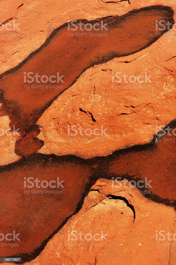Water Puddle Desert Red Rock Abstract royalty-free stock photo