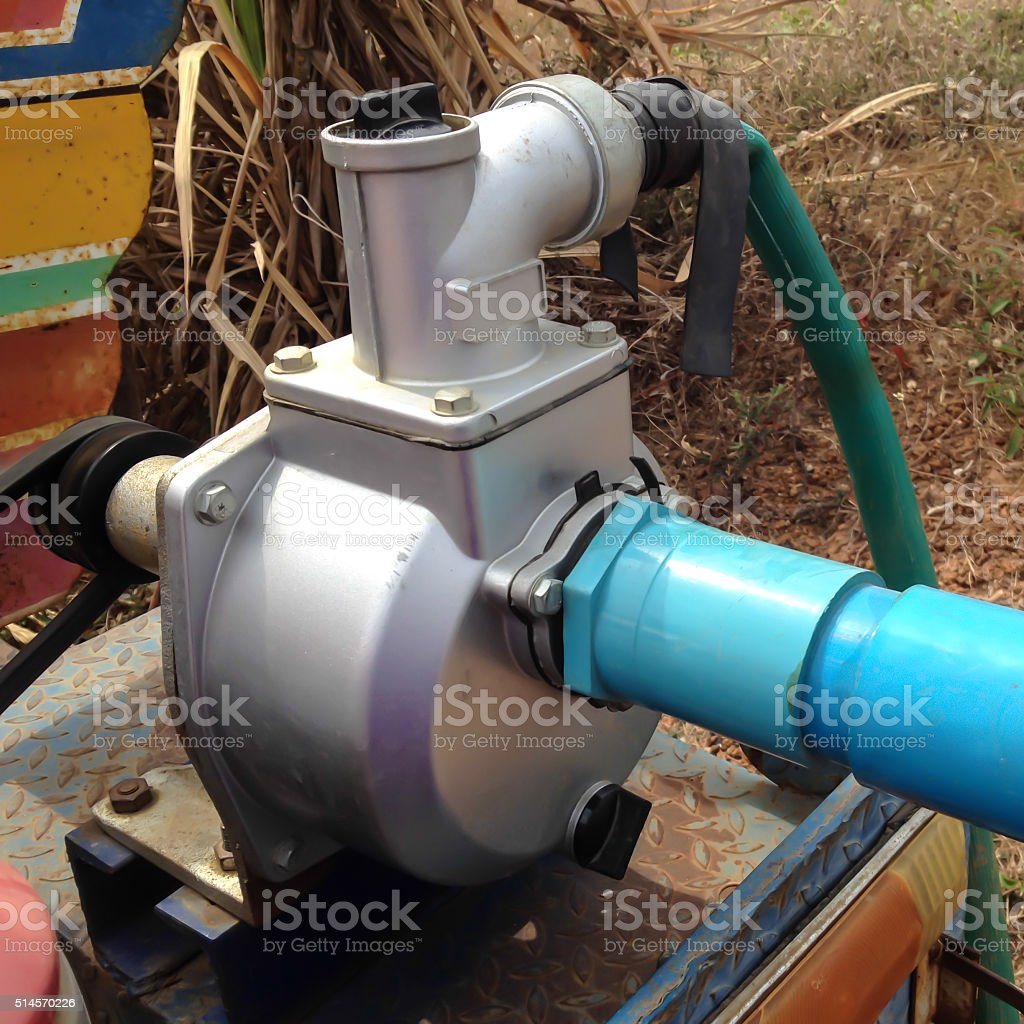 Water pump in a tropical culture stock photo