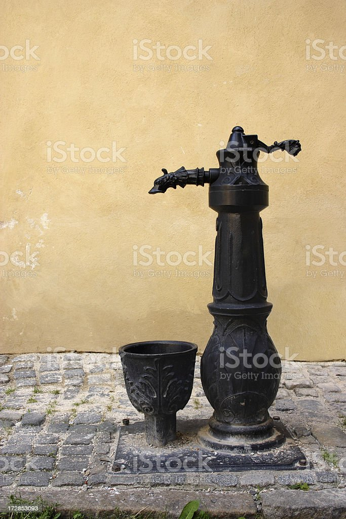 Water pump in Bohemian Gothic style stock photo