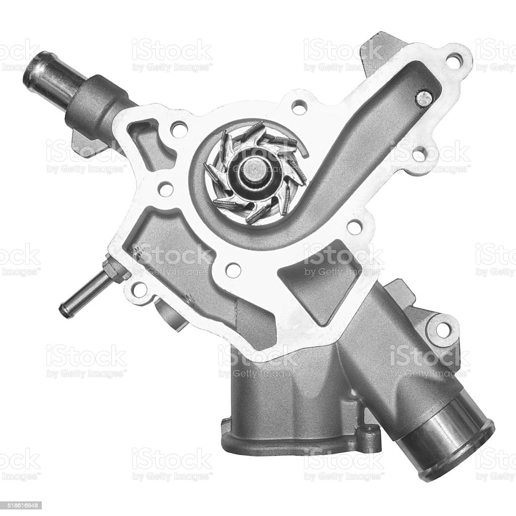 Water pump on a white background stock photo