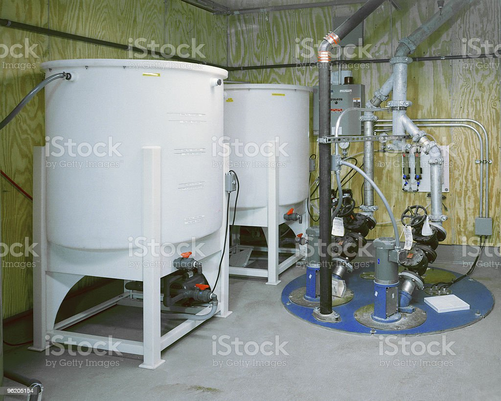Water Pump Room royalty-free stock photo