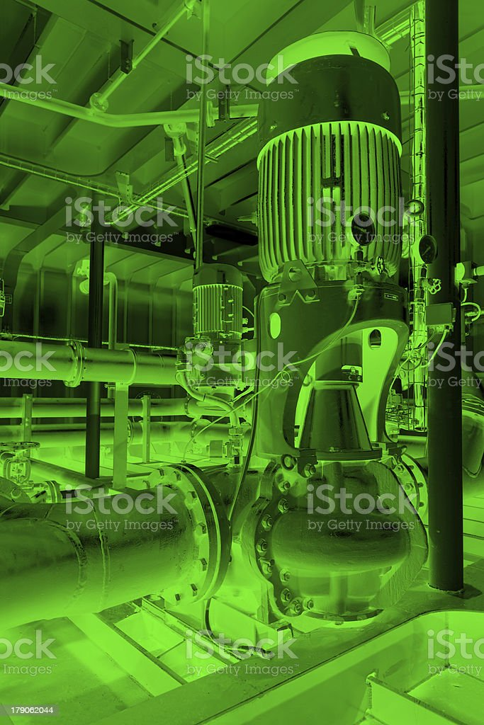 Water pumping station royalty-free stock photo