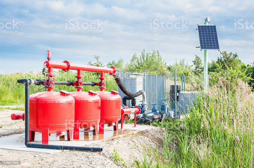 Water pumping system stock photo