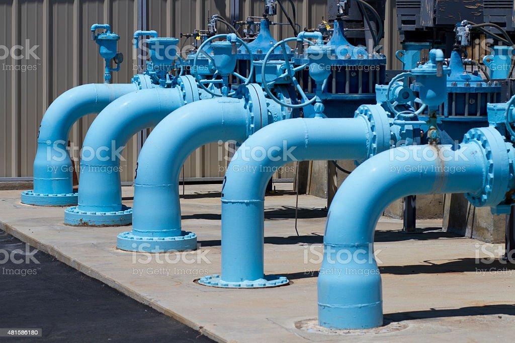 Water Pumping Transfer Station Horizontal CU stock photo