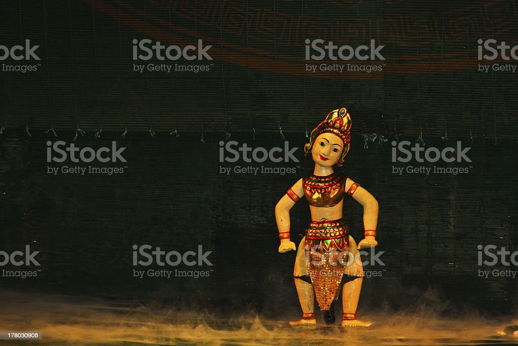 Water Puppets, Hanoi, Vietnam stock photo