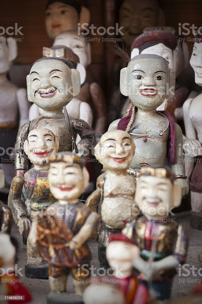 Water puppets royalty-free stock photo