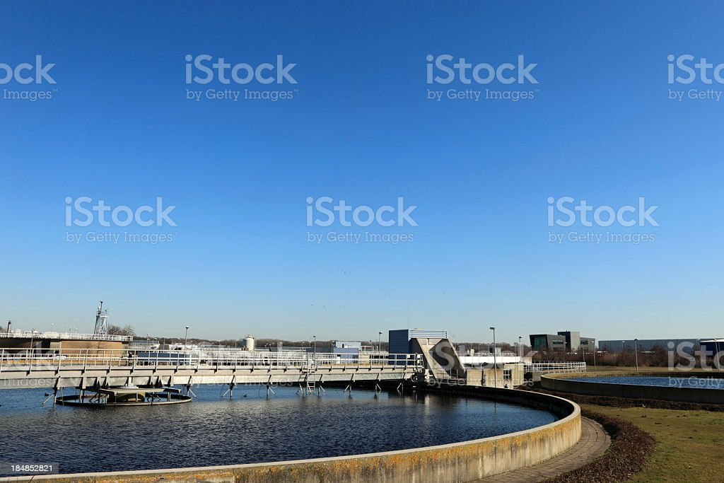 Water purification plan on sunny day royalty-free stock photo