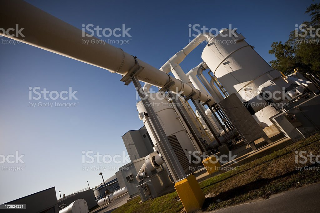 Water Purification Plant at Dusk royalty-free stock photo