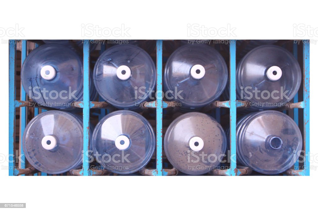 Water purifier bottle stock photo