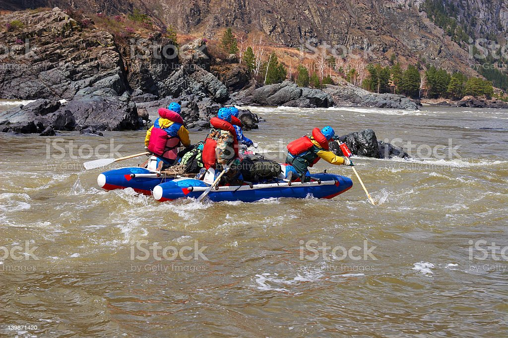 Water Rafting on the Altay. royalty-free stock photo