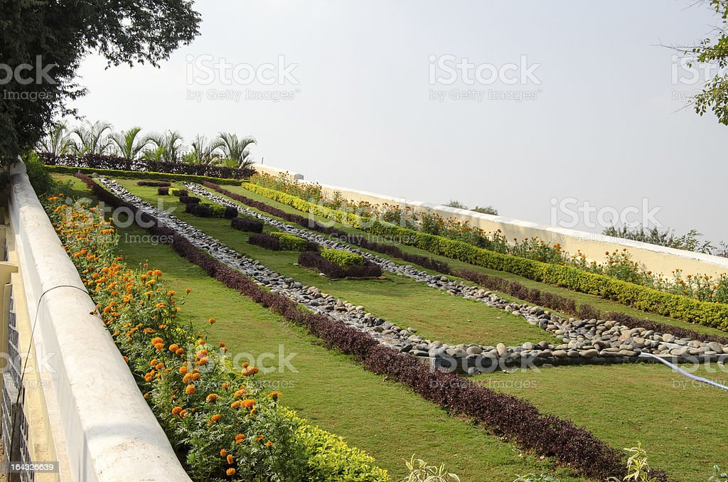 Water Ramp, President's House, India royalty-free stock photo