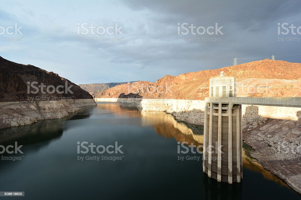 Water Receded in Lake Mead stock photo