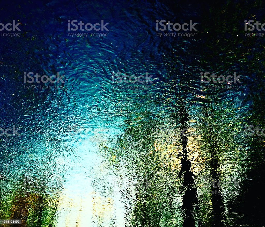 water reflections of nature stock photo