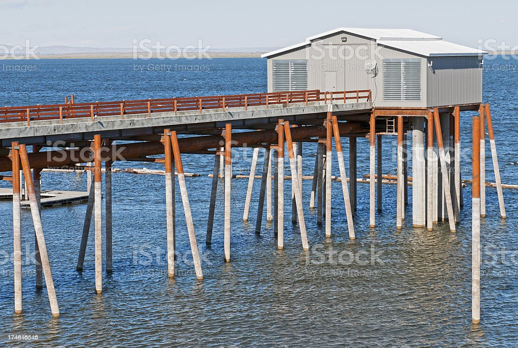 Water removal pipes in reservoir royalty-free stock photo