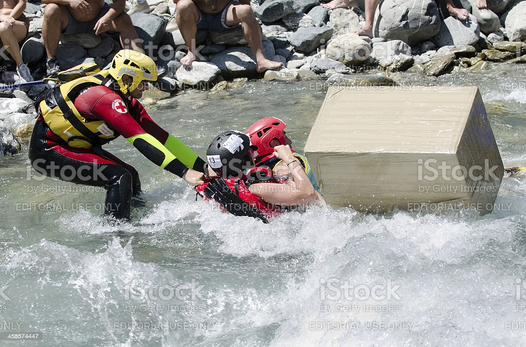 water rescue red cross royalty-free stock photo