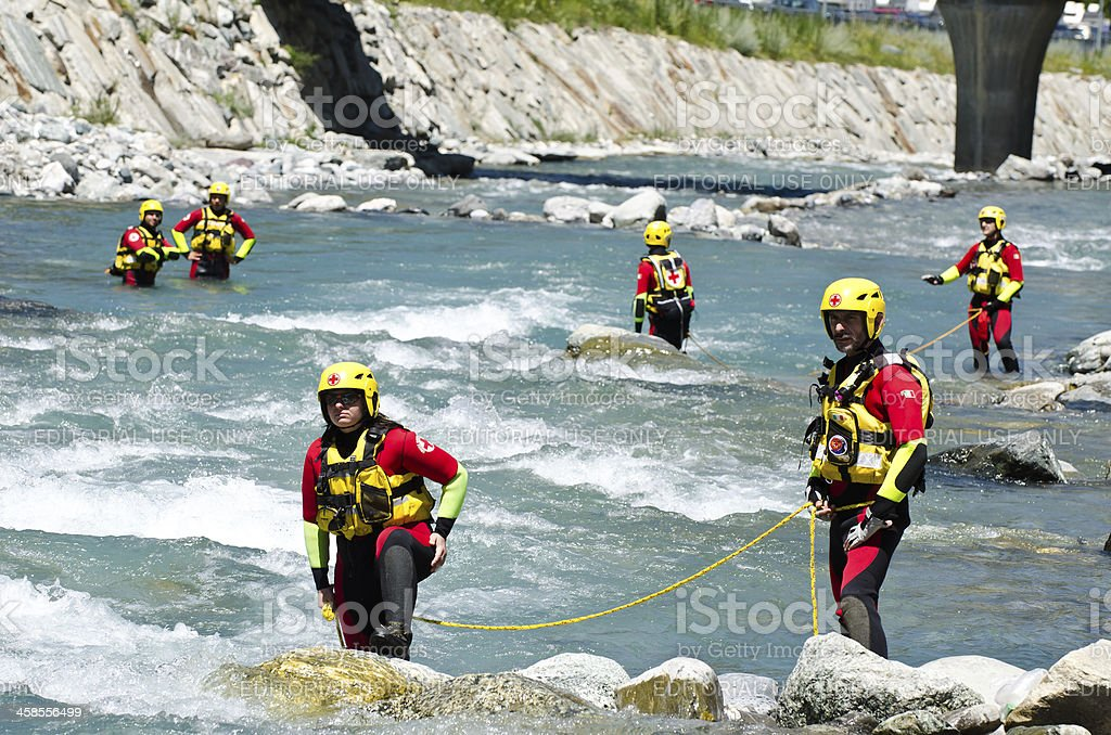 Water rescuers team royalty-free stock photo