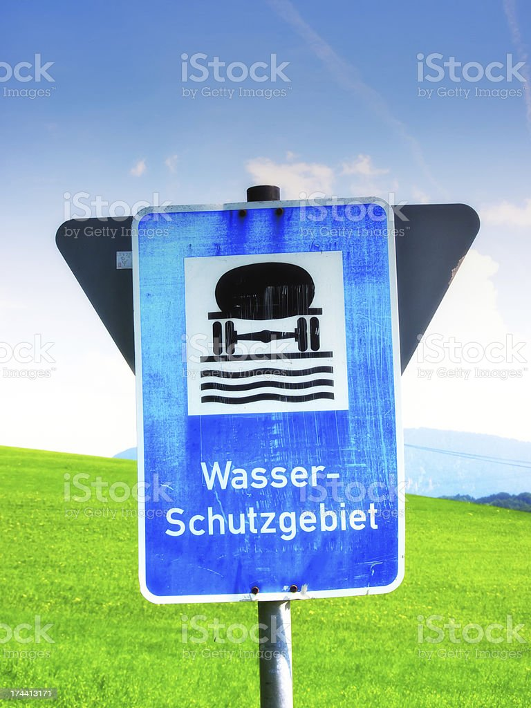 water reserve sign Germany royalty-free stock photo