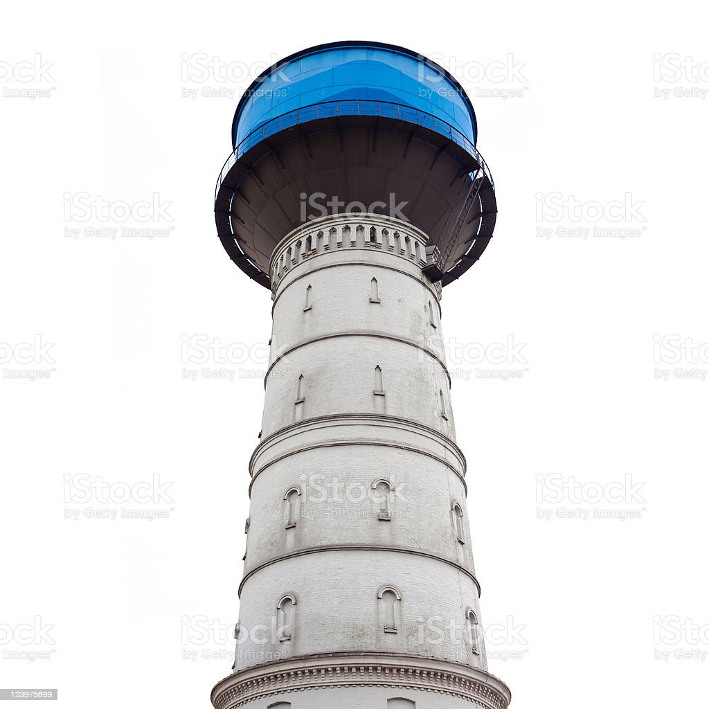 Water Reservoir Brick Tower royalty-free stock photo