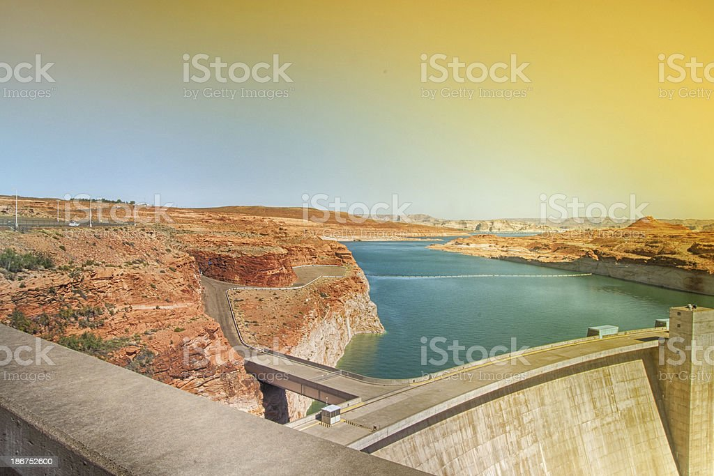 Water Reservoir on River royalty-free stock photo